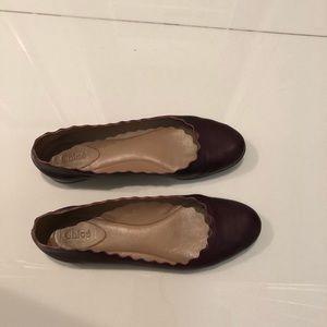 Chloe scallop flats shoes